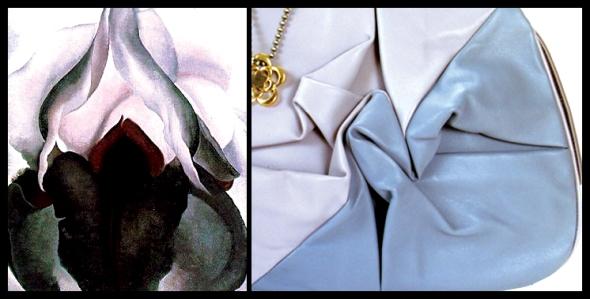 black iris, georgia O'keefe, origami